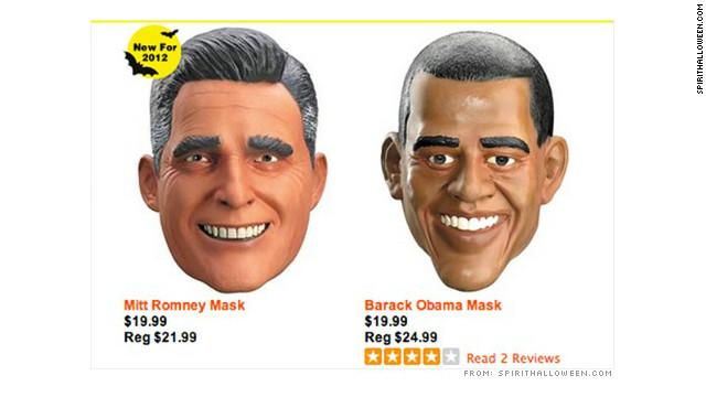 Si Halloween fuera mañana, Obama ganaría... en número de máscaras