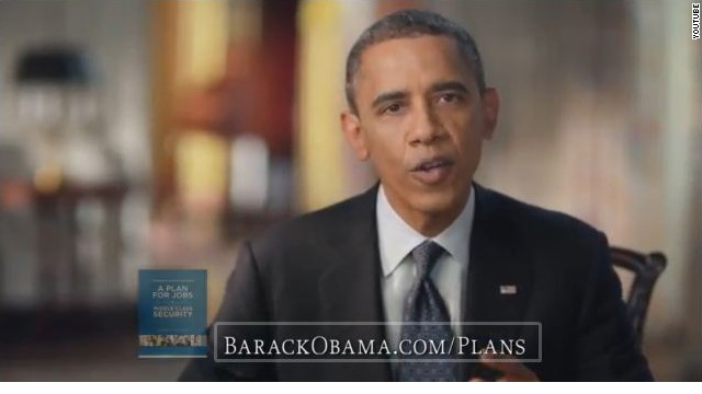 Obama makes pitch in new ad, reiterates plan for second term