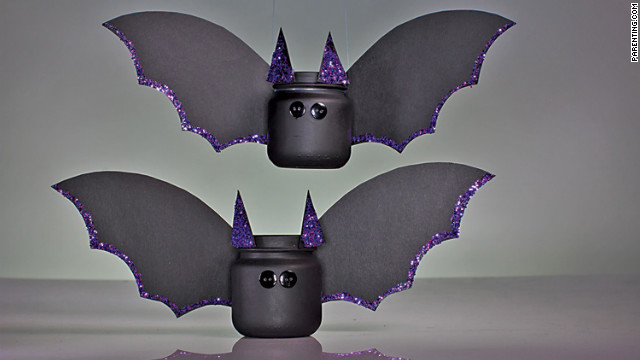 Baby food jars transformed into bats are more cute than scary.