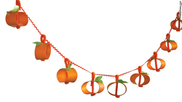 This gourdy garland offers fine motor skill practice with folding, bending and stringing.