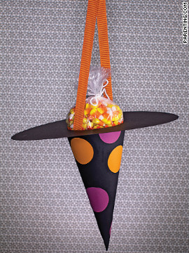 Witch hats are the perfect candy delivery system.