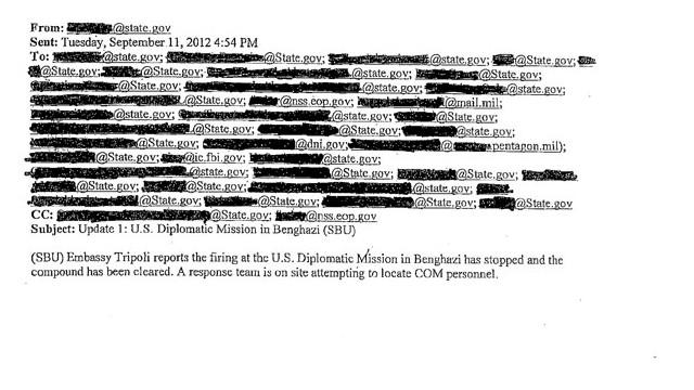 In an e-mail obtained by CNN, State Department officials notify that the attack is over.