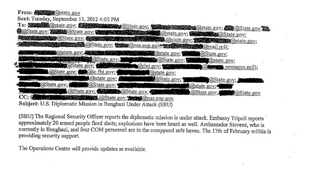 State Department e-mail on Benghazi