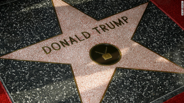Trump was honored with a star on the Hollywood Walk of Fame on January 16, 2007.