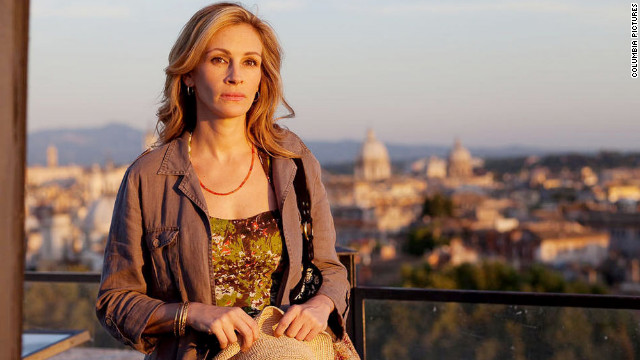 "When her best-selling memoir ""Eat, Pray, Love"" went from page to screen, Elizabeth Gilbert's profile skyrocketed. She was played by Julia Roberts, seen here, in the film adaptation. Click through the gallery for more examples of authors portrayed by big-name actors."