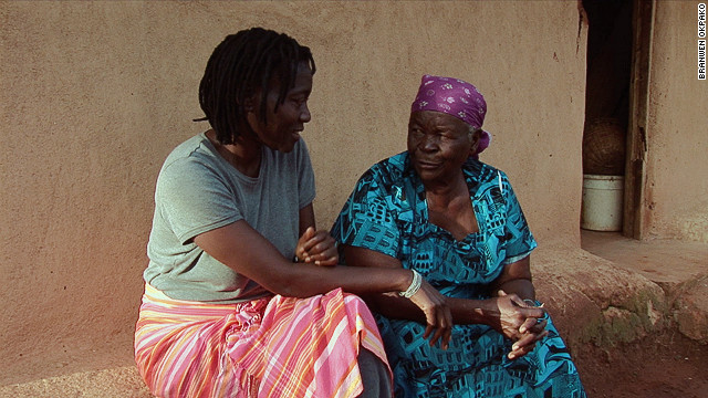 Auma with her paternal grandmother Sarah -- a relative she shares with President Barack Obama.