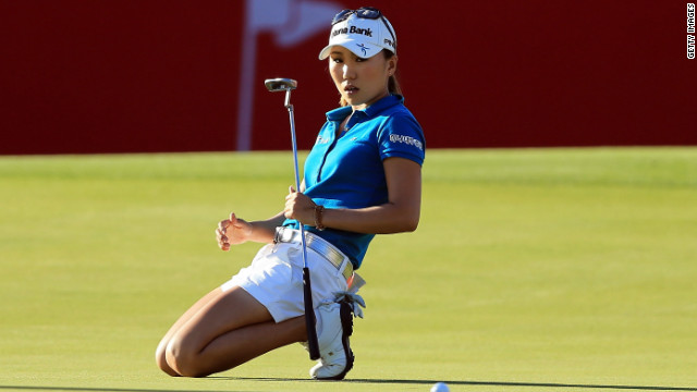 I.K. Kim has also endured major heartbreak in 2012. The 24-year-old missed a one-foot putt on the final hole of the Kraft Nabisco Championship that would've earned her first major, and then lost a playoff to fellow South Korean Yoo Sun-Young. But Scott and Kim aren't the only golfers to have choked on the big stage...