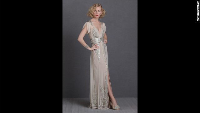 BHLDN, Anthropologie's bridal brand, sells this 'Aiguille Gown' by Anna Sui.