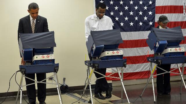 Obama el primer presidente de ee uu en votar por for Presidente mesa electoral
