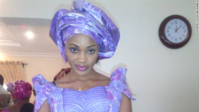 Cynthia Osokogu in traditional Nigerian atire.