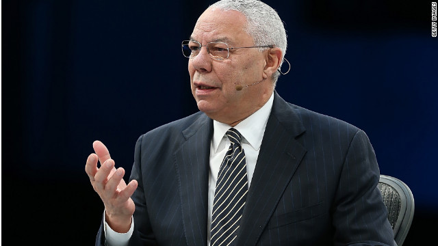 Colin Powell is bucking his own party, again