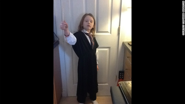 Stella as Hermione Granger from the Harry Potter series.