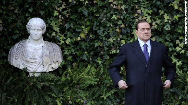 Former Italian Prime Minister Sivio Berlusconi during an official visit to Villa Madama on January 18, 2011. A Milan court sentenced the flamboyant politician to four years in prison for tax evasion, but he appealed the decision.