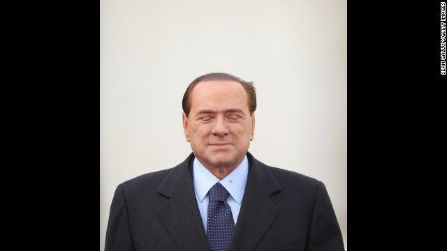 Berlusconi arrives at the Chancellery to meet with German Chancellor Angela Merkel on January 12, 2011 in Berlin, Germany.