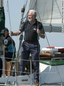 Sir Robin Knox-Johnston, the first person to sail solo, non-stop, around the world in 1969, founded the annual clipper race 16 years ago.