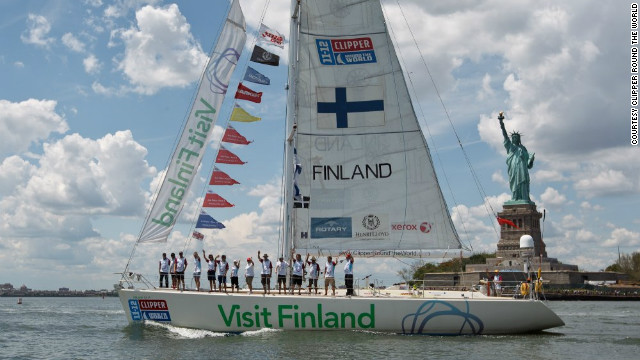 The boat Visit Finland arrives in New York. With limited access to phones and internet, crews are essentially cut off from the outside world until they dock at port.