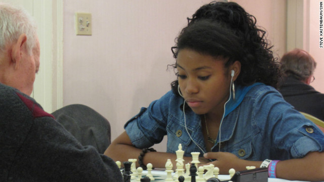 African-American girl blazing a trail through chess