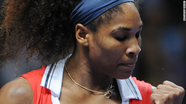 A pumped Serena Williams was always on top in the WTA Championships final against Maria Sharapova. 