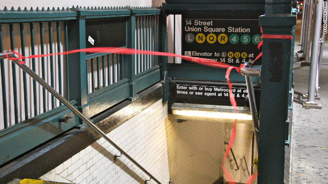 NYC subway closed for Sandy