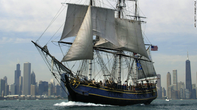 Two crew members missing as famed sailing ship sinks off North Carolina