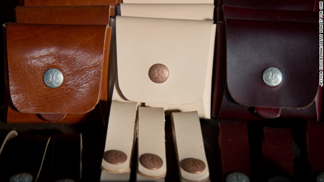 Eric Heins of <a href='http://corterleather.bigcartel.com/' target='_blank'>Corter Leather</a> makes all of his leather goods by hand.