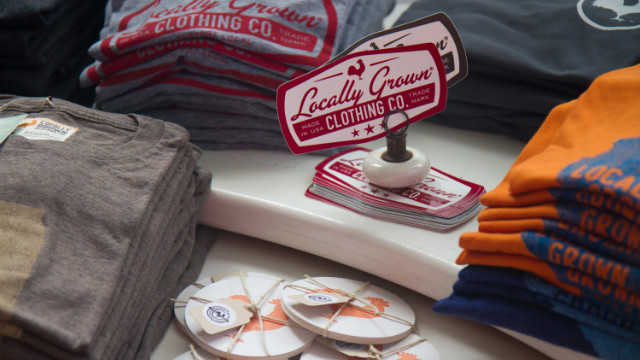 Iowa-based Locally Grown displays its clothing and accessories at NorthernGRADE.