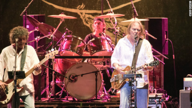 Neil Young performs with Crazy Horse at the Hard Rock Presents Pavilion on August 3, 2012 in Albuquerque, New Mexico.