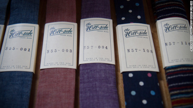 Penelope's offers ties by &lt;a href='http://www.thehill-side.com/' target='_blank'&gt;the Hill-side, &lt;/a&gt;an accessories brand whose line is made in Connecticut and Brooklyn.
