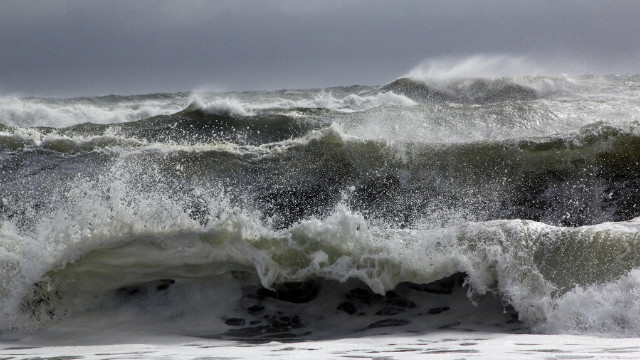 Multiple waves hit the Cooper's Beach in Southampton, N.Y.<br/><br/>