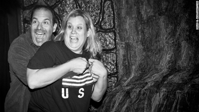 Fear captured at haunted house