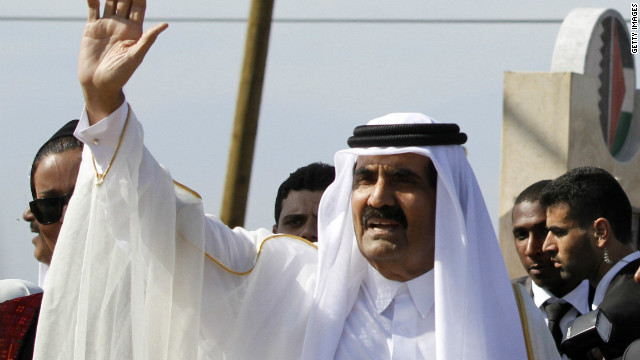 The emir of Qatar described the situation in Syria as genocide Tuesday, according to state media.