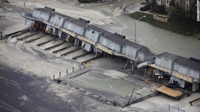Homes and other buildings in Brigantine were destroyed in Sandy's wake. New Jersey Gov. Chris Christie described the devastation in the state as unthinkable.