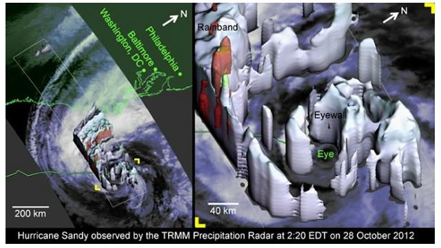 La NASA realiza un mapa de Sandy en 3D