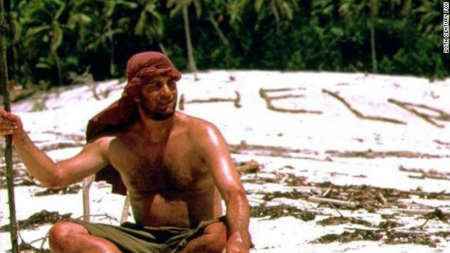 In &quot;Cast Away,&quot; Tom Hanks is a FedEx executive who's marooned on an island after a plane crash for years, alone.