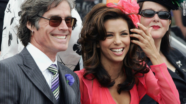 Actors Eva Longoria, right, and Ronn Moss attend the 2005 carnival. International celebrity guests are now a regular feature at the $6.2 million horse race. 