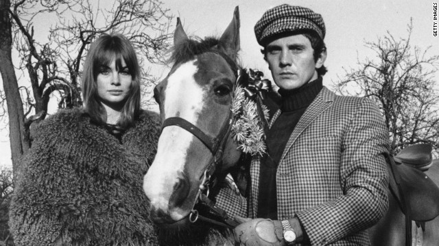 Silence descended on the Flemington members' lounge as Shrimpton and Hollywood actor boyfriend Terence Stamp (pictured) marched in two hours late.