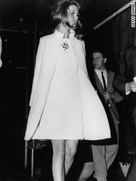 British model Jean Shrimpton caused a huge uproar after arrving at the Melbourne Cup Carnival in 1965 wearing a minidress five inches above the knees, with no stockings, gloves or hat.