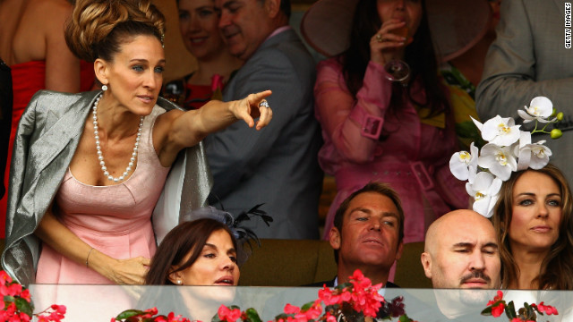 &quot;Sex and the City&quot; star Sarah Jessica Parker at last year's carnival, alongside cricketer Shane Warne and actress Liz Hurley.