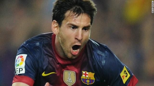Lionel Messi es el máximo goleador del 2012 tras anotar 23 goles