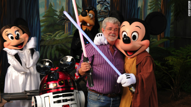&quot;Star Wars&quot; creator George Lucas meets a group of &quot;Star Wars&quot;-inspired Disney characters at Disney's Hollywood Studios theme park in 2010. Click through and see what the original cast is up to now: