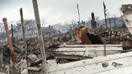 Fires and floods destroy homes in NY