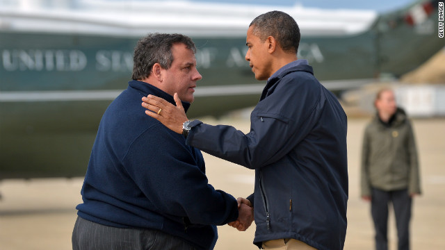 Christie welcomes Obama with open arms