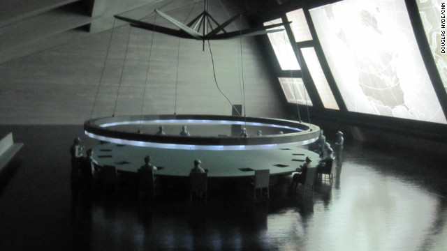  A scale model of the iconic war room in &quot;Dr. Strangelove.&quot; During his first tour of the White House in 1981, President Ronald Reagan reportedly asked, &quot;Where's the war room?&quot; He was disappointed when told it only existed in Kubrick's dark Cold War comedy.