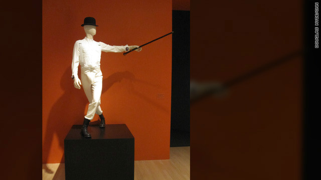 "The costume for ""Alex,"" the lead character -- and violence-prone delinquent -- in ""A Clockwork Orange."""