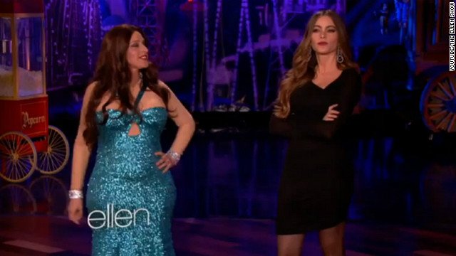Ellen DeGeneres dresses up as Sofia Vergara for Halloween