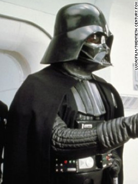 Formerly a Jedi named Anakin, Darth Vader eventually goes over to the dark side of the Force.