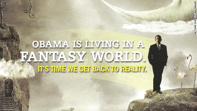 Romney super PAC attacks Obama &#039;fantasy land&#039;