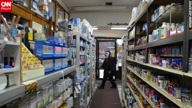 Many stores in the city ran out of candy during Halloween, <a href='http://ireport.cnn.com/docs/DOC-870057'>Kaplan</a> and other iReporters said.