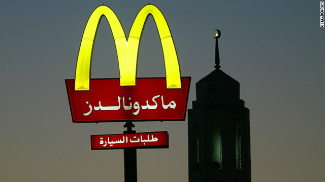 A McDonalds in Kuwait City -- one of many U.S. fast food chains that arrived in the tiny country during the first Gulf War. 