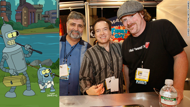 "These guys are responsible for some of the most enduring animated characters on television today. From Fox to Comedy Central, ""Futurama"" has kept audiences rolling. Meet, from left to right, Maurice LaMarche (Kif Kroker), Billy West (Fry, Professor Farnsworth, Dr. Zoidberg), and John DiMaggio (Bender)."